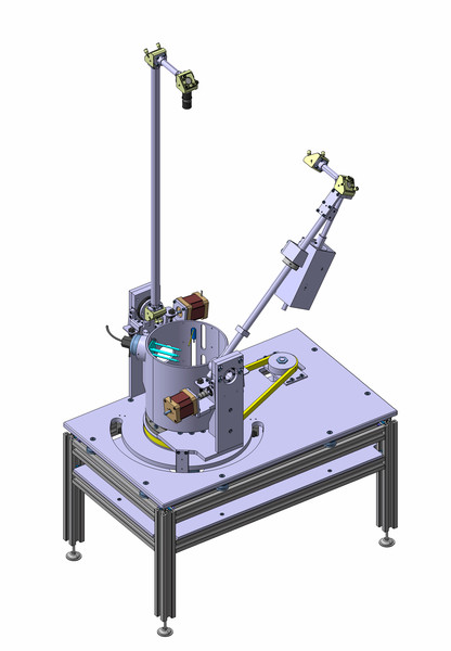 CAD drawing of the PHIRE-2 instrument.